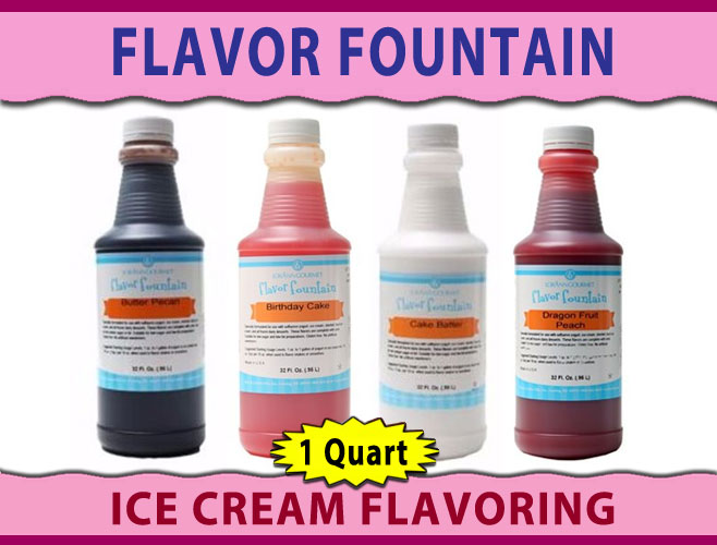 Ice Cream Flavoring - Flavor Fountain - 1 Quart | Sweet Maker Supply